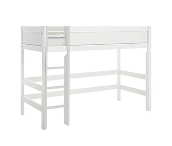 LIFETIME Low loft bed straight ladder white