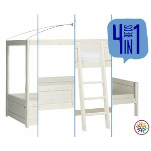 LIFETIME 4 in 1 Bed canopy whitewash