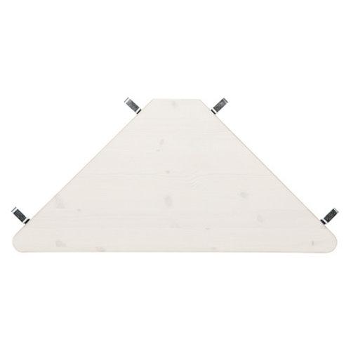 LIFETIME Mittel Hochbett 90 x 200 gerade Leiter Whitewash