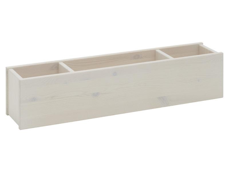 LIFETIME Mittel Hochbett 90 x 200 gerade Leiter Whitewash - Copy