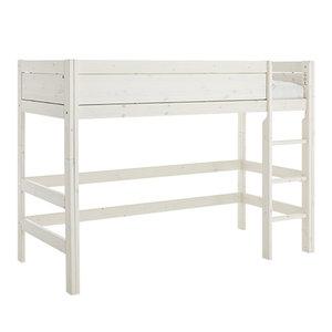 LIFETIME Low loft bed straight ladder whitewash