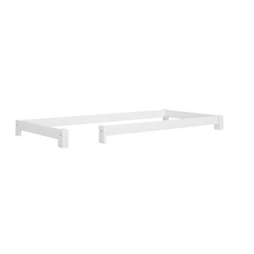 LIFETIME Loft bed 90 x 200 slanted ladder in white