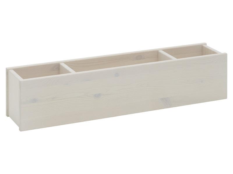 LIFETIME Etagenbett 90 x 200 mit gerader Leiter in Whitewash