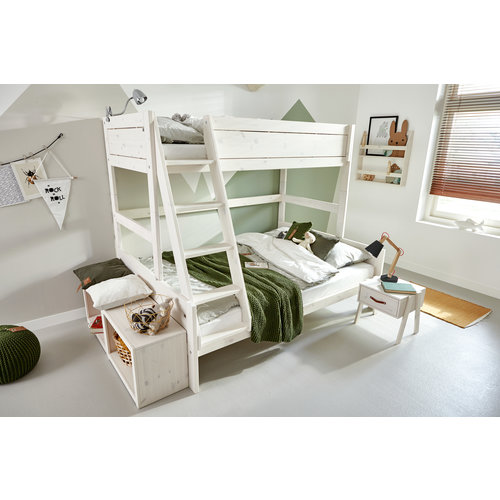 LIFETIME Bunk bed Family 90/140 x 200 in whitewash