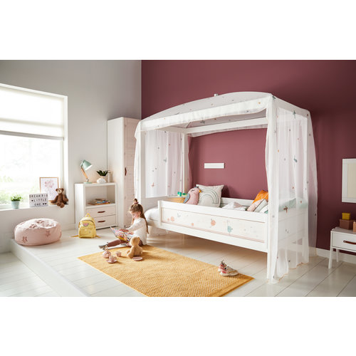 LIFETIME Four-poster bed 90 x 200 in white