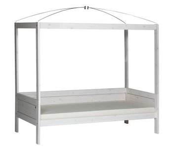 LIFETIME Four-poster bed 90 x 200 whitewash