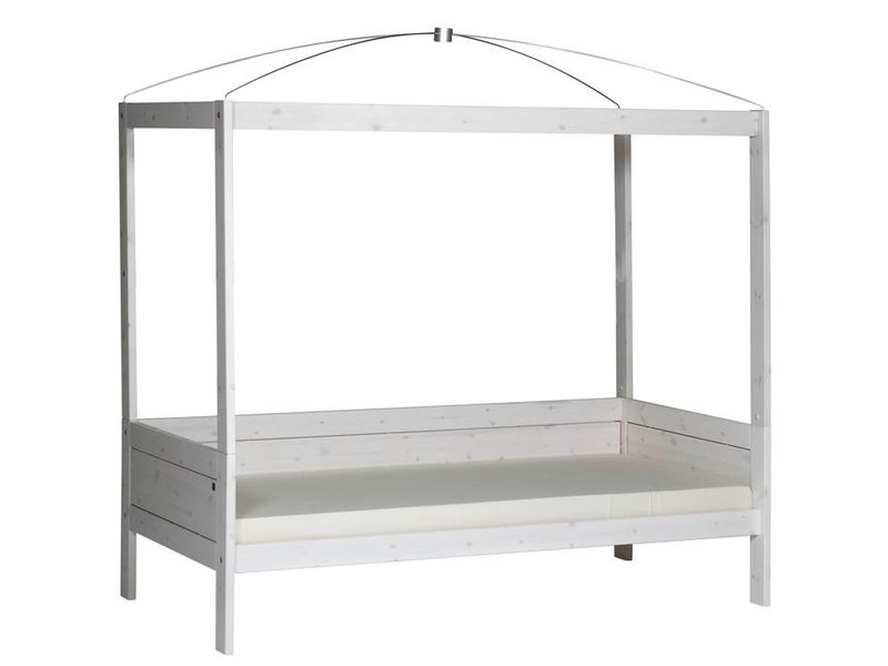 LIFETIME Four-poster bed  90 x 200 in whitewash