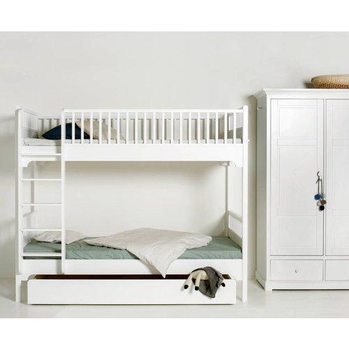Oliver Furniture Etagenbett 90 x 200 cm, weiß, gerade Leiter