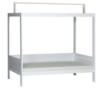 LIFETIME basic bed with roof construction white
