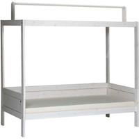 basic bed with roof construction whitewash