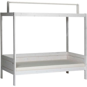 LIFETIME basic bed with roof construction whitewash
