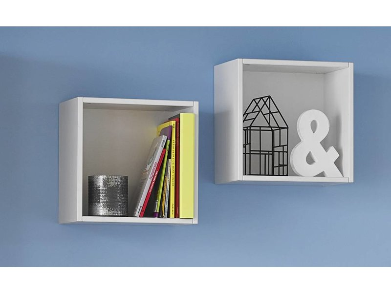 LIFETIME Kiste für Regal/Wand 37 x 37 cm, whitewash