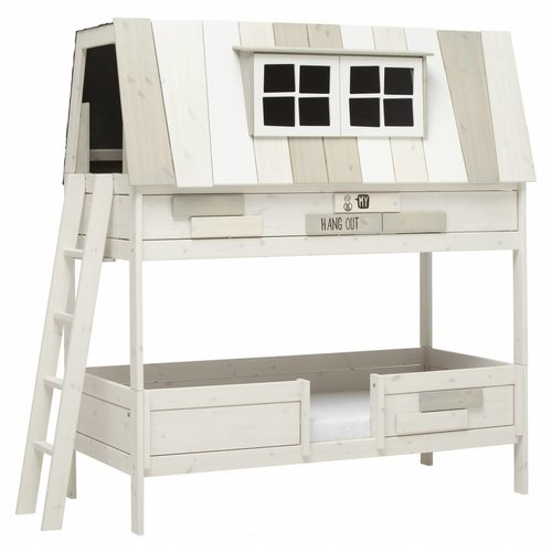 LIFETIME Hangout bunk bed whitewash