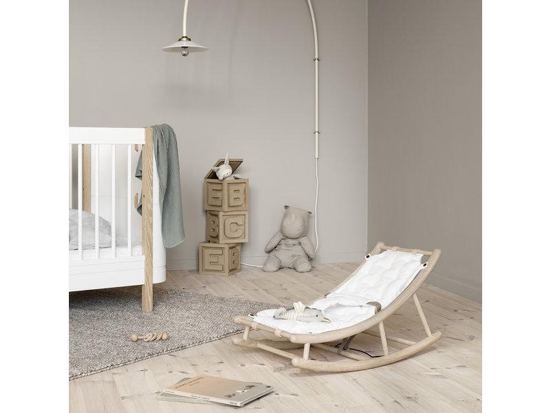 Oliver Furniture Wood baby & toddler rocker oak/white