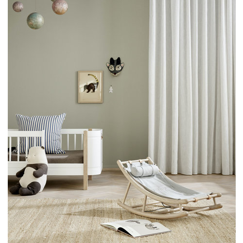 Oliver Furniture Wood Kleinkindwippe Eiche/grau