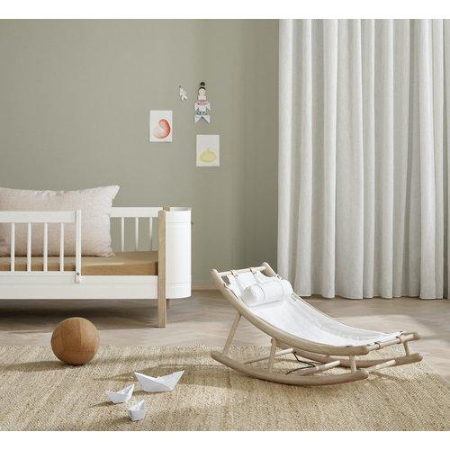 Oliver Furniture Wood toddler rocker oak/white