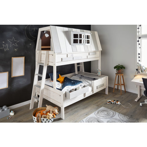 LIFETIME Bunk Bed Hangout 140 x 200 cm in whitewash
