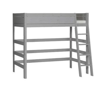 LIFETIME Loft bed slanted ladder greywash