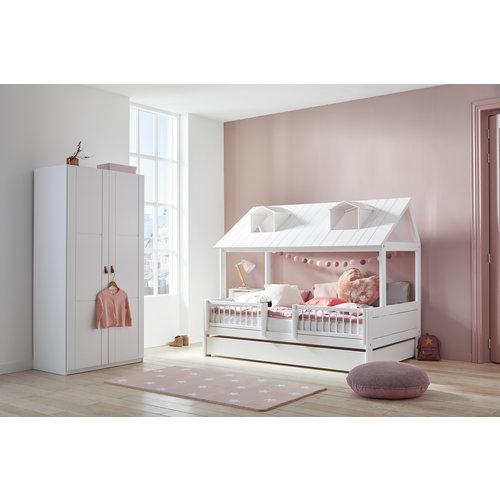 LIFETIME Beachhouse Bed 120 x 200 cm in white