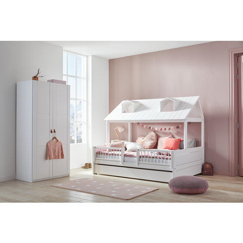 LIFETIME Beachhouse Bed 140 x 200 cm in white