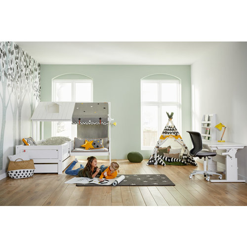 LIFETIME Beachhouse Bed with Bench in white