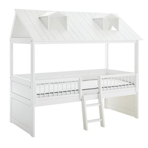 LIFETIME Cabin Bed Beachhouse with ladder in white