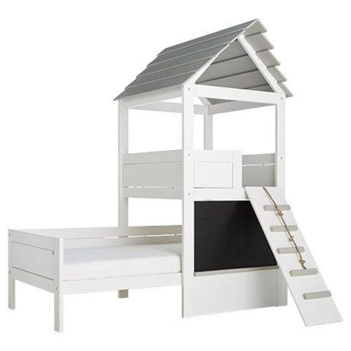 LIFETIME Cabin Bed Beachhouse with ladder in white - Copy