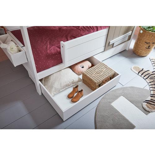 "LIFETIME Base cottage bed ""The Hideout"" whitewash"