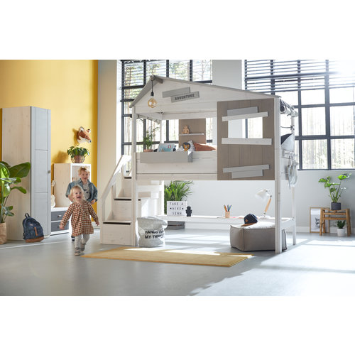 """LIFETIME Half-height cottage bed """"The Hideout"""" white"""