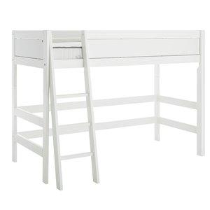 LIFETIME Low loft bed slanted ladder white