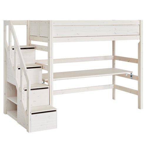 LIFETIME Loft bed with stairladder whitewash