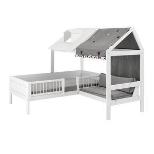 LIFETIME Beachhouse Bett mit Bank weiß