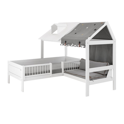 LIFETIME Beachhouse Bed with Bench white