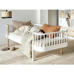 Oliver Furniture Bettsofa Wood Original, weiß-Eiche