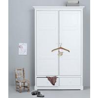 Kleiderschrank 2-türig Höhe 195 cm, weiß