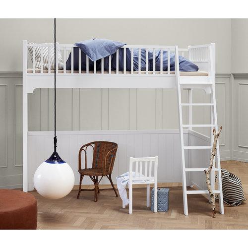 Oliver Furniture Classic Hochbett weiß 90 x 200