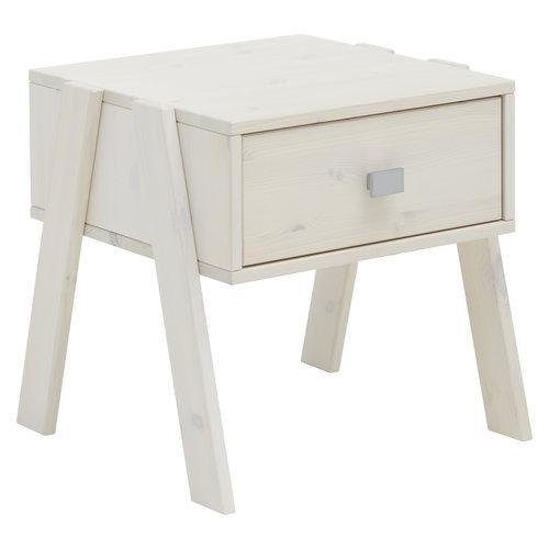 LIFETIME Nightstand with drawer whitewash
