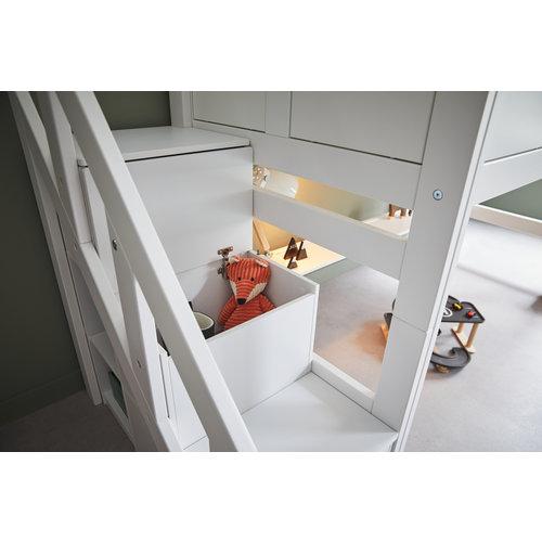 LIFETIME Low loft bed Hangout whitewash