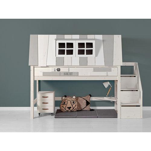 LIFETIME Low loft bed Hangout white