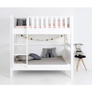 Sanders Fanny bunk bed Junior 90/120 x 160 with large underbed white