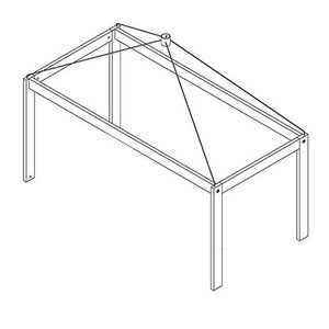 LIFETIME Canopy top for basic bed