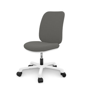 LIFETIME Office Chair Comfort Grey / White