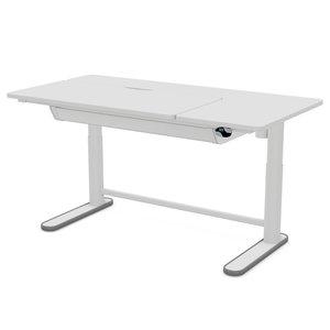 LIFETIME Elektrisch verstellbarer Schreibtisch - rechts neigbares Teil