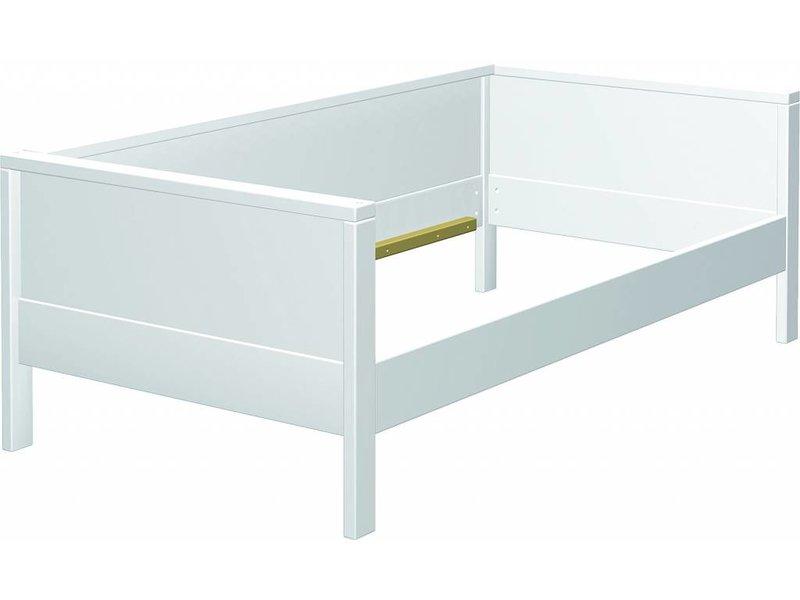 Haba Matti Aufrüstsatz Couchversion Bett weiss Holzrückwand für Bett