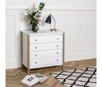 Oliver Furniture Wood Kommode, weiß-Eiche