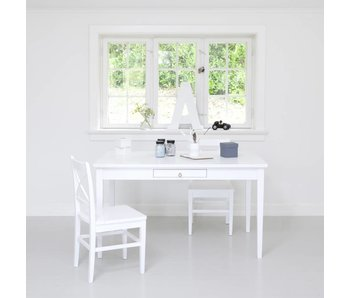 Oliver Furniture Küchentisch mit Lederband, weiß