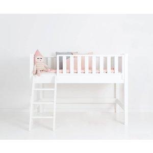 Sanders Fanny Halbhohes Bett Junior 160 x 90 cm weiß