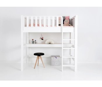Sanders Fanny Mittelhohes Bett Junior 160 x 90 cm weiß