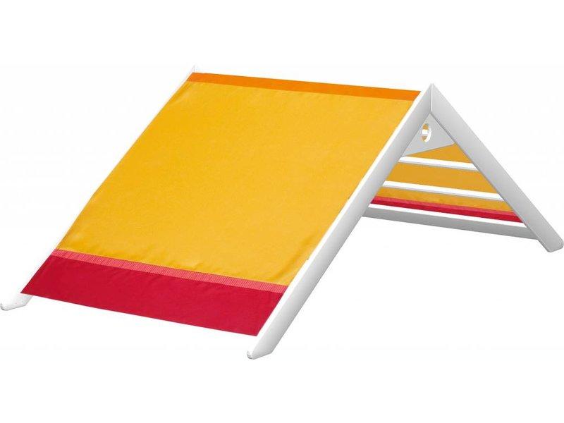 Haba Spielbett Matti mit Giebel Buche weiß - Rot