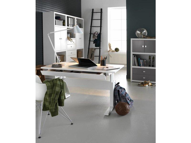 LIFETIME Höhenverstellbarer Schreibtisch 120 weiß